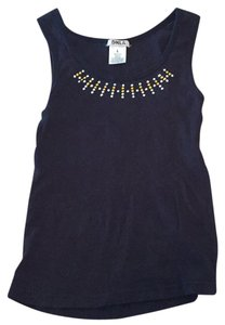 DNLA Top black with gold studs