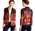 Anthropologie Vibrant Colors Super Well Tailored Menwear Inspirted Two Welt Pockets Open Front Top Multi-color Image 1
