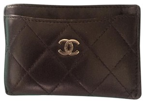Chanel Chanel Card Case. Lambskin Quilted Leather. Excellent Cond. Free Ship!