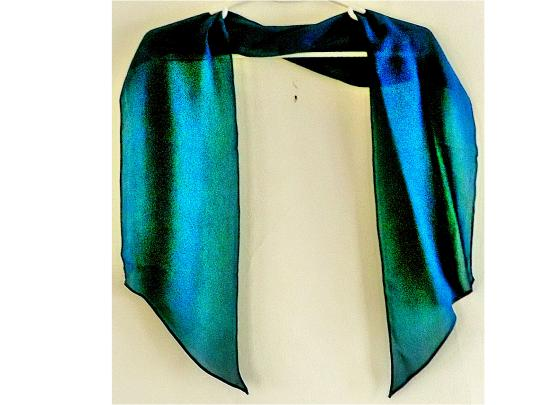 Other NEW slanted-ended teal polyester