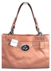 Coach Leather Penelope Satchel in Coral