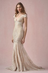 Wtoo Light Gold Lace Willowby Love Marley Alana 55159 Wedding Dress Size 6 (S)