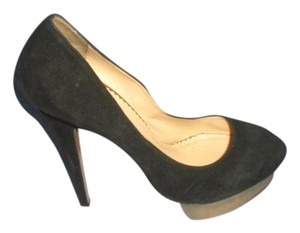 Charlotte Olympia Dolly Gold Black Pumps