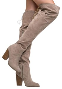 Chase & Chloe Beige Boots