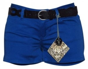 New Jr. Size 3 BeBop Blue Belted Short Mini/Short Shorts