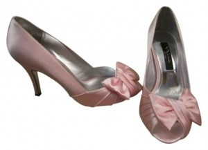 Nina Shoes Bridesmaid Classic Satin Light Pink Formal