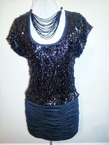 Forever 21 Sequins Party Sexy Lbd Evening Night Out Date Night Holiday Christmas New Year's Eve Dress