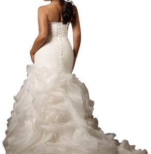 Mori Lee White Ruffled Organza Juliette 3124 Modern Dress Size 16 (XL, Plus 0x)