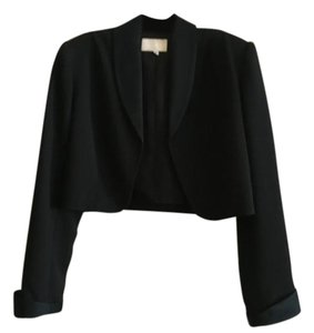 Cache Lined Bolero Top black