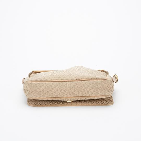 Valentino Monogram Canvas Beige Messenger Bag