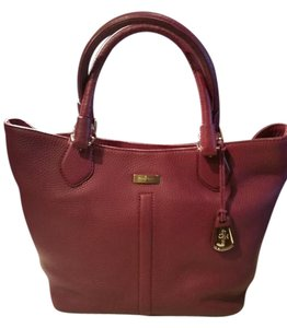 Cole Haan Leather Internal Handles Satchel in Purple