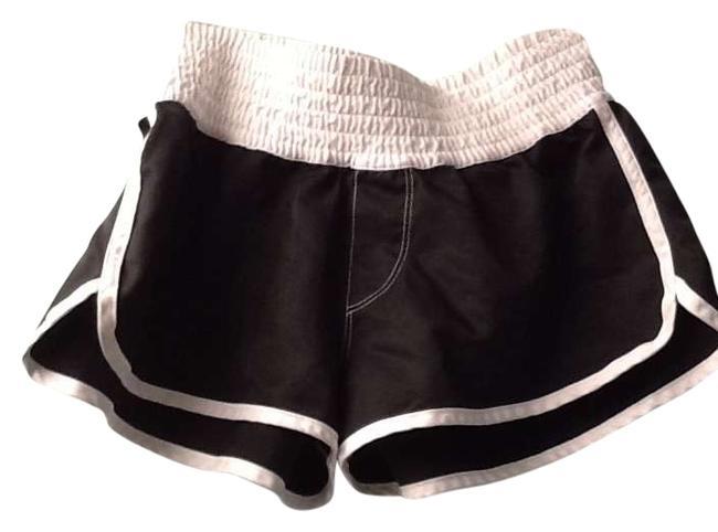 So Wear It Declare It Trendy Cute Comfy Wrinkle Free Black and white Shorts