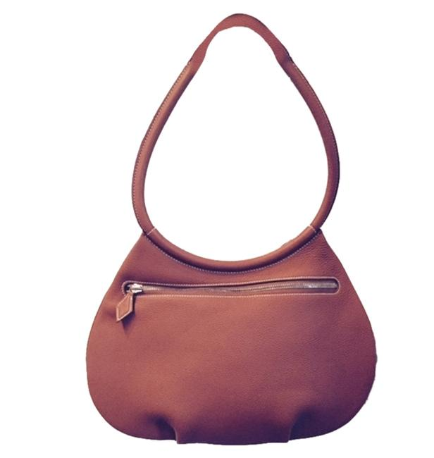 Item - Cacahuete Gold/Brown Leather Hobo Bag
