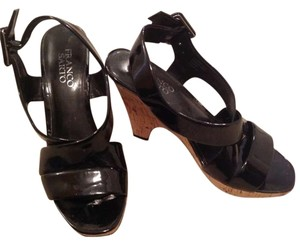 Franco Sarto Black patent Wedges