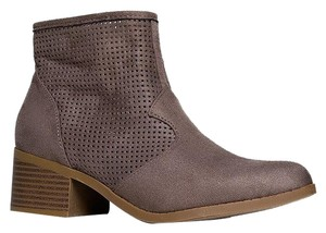 City Classified Perforated Ankle Taupe Boots