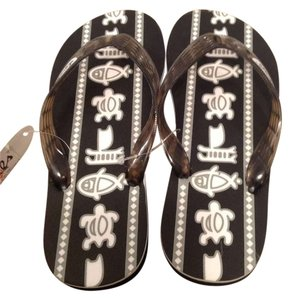 Locals Black and white Sandals