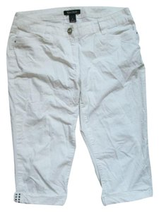White House | Black Market Cropped Summer Cuffed Capris White