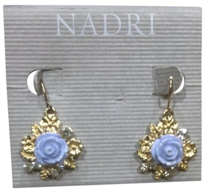 Nadri Nadri Enamel Rose Drop Earrings
