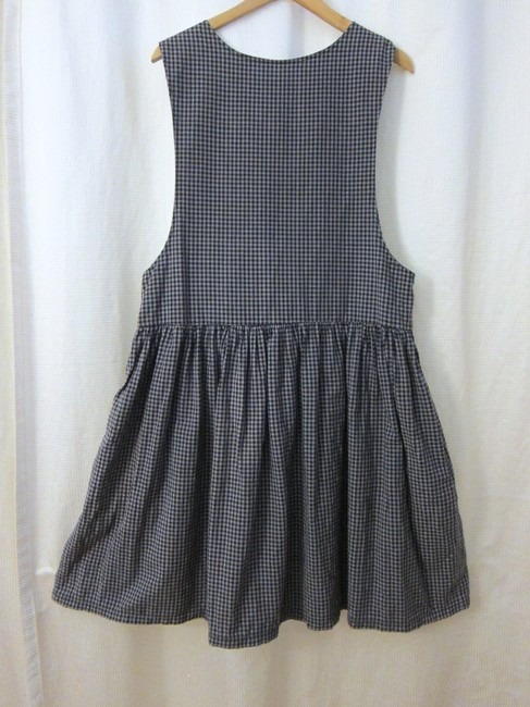 Maxi Dress by Other Vintage Checker Plaid Applique