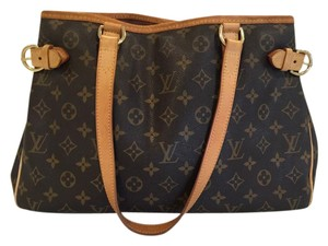 Louis Vuitton Leather Tote in Brown Monogram