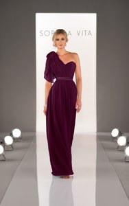 SORELLA VITA Aubergine 8472 Also Available In Cocktail Length As Style 8471 Dress