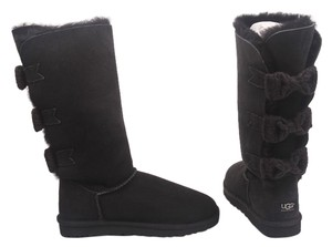 UGG Australia Bailey Bow Knit Bow Tall Black Boots