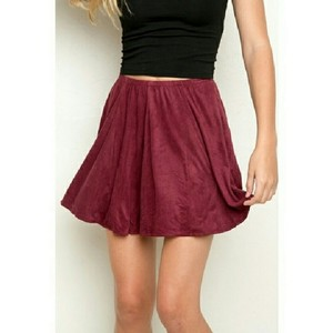 Brandy Melville Mini Skirt Burgundy