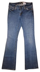 Gap Faded Stretchy Flare Leg Jeans-Distressed