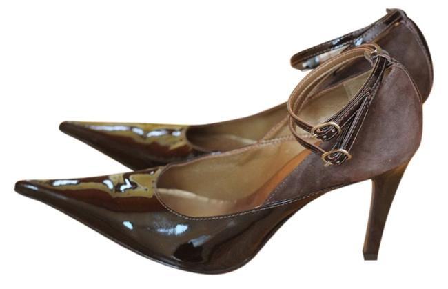 Item - Brown Box Amazing Detail Of Leather and Suede with An Ankle Strap. New with Out Pumps Size US 8