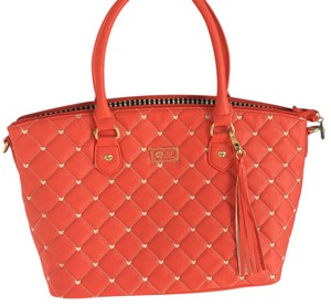 Betsey Johnson Satchel in Coral