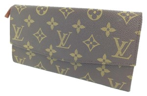 Louis Vuitton Authentic LOUIS VUITTON Long Bifold Wallet Purse Monogram Leather Men