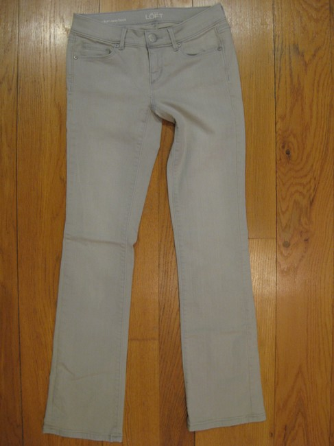 Ann Taylor LOFT Modern Sexy Sexy Light Wash Denim New Washed Out 24 00 0 25 Petite Regular 29 Inseam Casual Comfortable Cotton Spandex Boot Cut Jeans-Light Wash