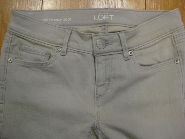 Ann Taylor LOFT Modern Sexy Sexy Wash Denim New Washed Out 24 00 0 25 Petite Regular 29 Inseam Casual Comfortable Cotton Polyester Boot Cut Jeans-Light Wash
