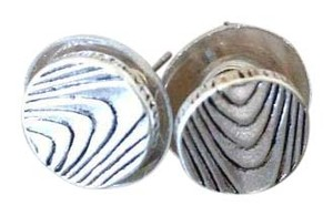 The Sak The Sak Wood Grain Stud Earrings in Silver