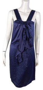 Magaschoni Ruffle Silk Dress