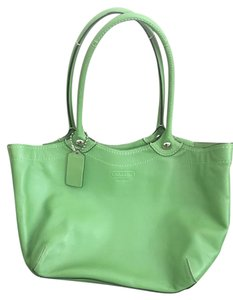 Coach Tote in Apple Green