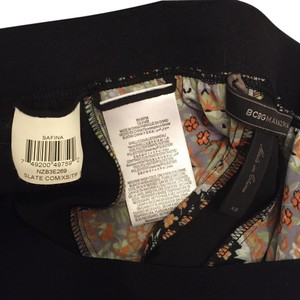 BCBGMAXAZRIA Maxi Skirt Black with moroccan print