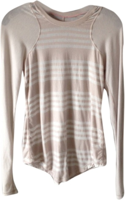 Item - Tan/White Activewear Top Size 4 (S, 27)