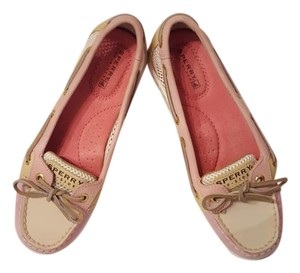 Sperry Leather Light pink, Beige, Hot pink, White Flats