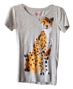 41ce593a709a87 J.Crew Heather Gray Limited Edition Donald Robertson For Leopard Tee ...