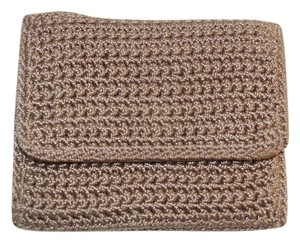 The Sak Taupe Tan Knit Trifold Wallet Compact Small Organizer