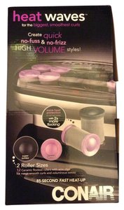 Conair NIB Conair Heat Wave 2 Sizes Rollers Total 12 Rollers