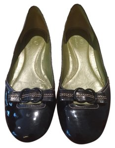 Cole Haan Patent Leather Leather Black Flats