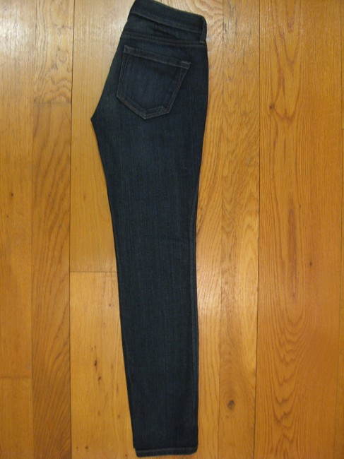 Ann Taylor LOFT Professional Denim Cotton Spandex Polyester Office Stretchy New Never Worn Smoke Free 27 Inseam Style Petite Dark 5 Skinny Jeans-Dark Rinse