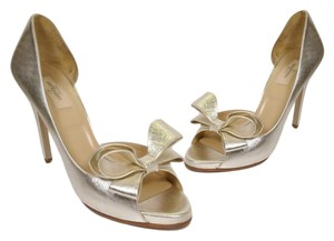Valentino Silver Metallic Pumps