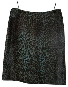 ALAA Pony Pencil Leather Skirt LAGOON