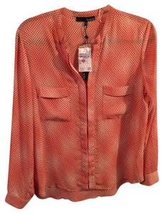 Ro & De Button Down Shirt Coral