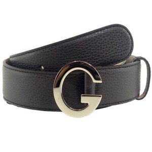 Gucci Gucci 362732 Unisex Leather G Buckle Belt Brown 90-36 Display