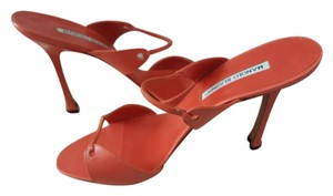 Manolo Blahnik Orange Sandals