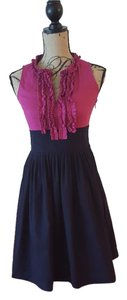 Eliza J short dress Fushia/ Navy on Tradesy